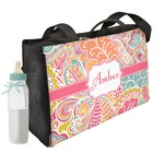 Abstract Foliage Diaper Bag w/ Name or Text