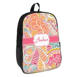 Abstract Foliage Kids Backpack (Personalized)