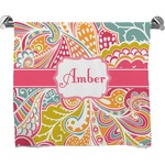 Abstract Foliage Full Print Bath Towel (Personalized)