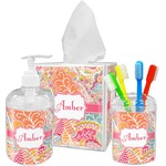 Abstract Foliage Bathroom Accessories Set (Personalized)