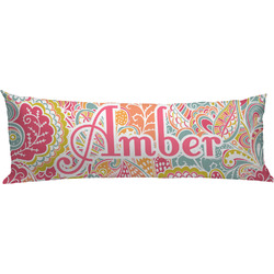 Abstract Foliage Body Pillow Case (Personalized)