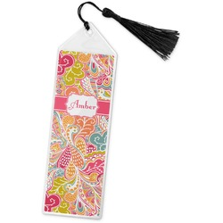 Abstract Foliage Book Mark w/Tassel (Personalized)