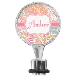Abstract Foliage Wine Bottle Stopper (Personalized)