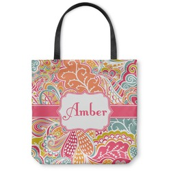 Abstract Foliage Canvas Tote Bag (Personalized)
