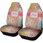 Abstract Foliage Car Seat Covers (Set of Two) (Personalized)