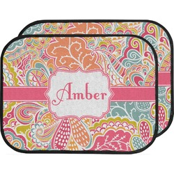 Abstract Foliage Car Floor Mats (Back Seat) (Personalized)