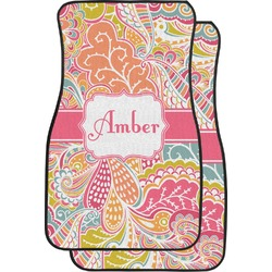 Abstract Foliage Car Floor Mats (Front Seat) (Personalized)