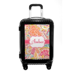 Abstract Foliage Carry On Hard Shell Suitcase (Personalized)