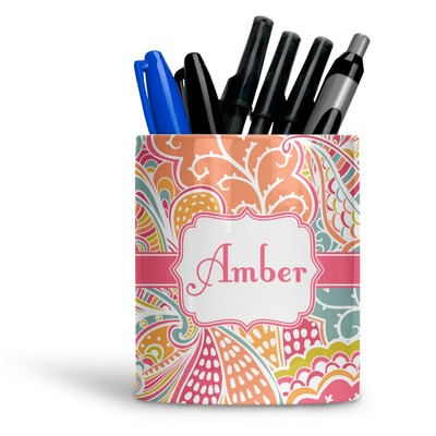 Abstract Foliage Ceramic Pen Holder