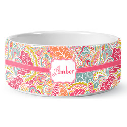 Abstract Foliage Pet Bowl (Personalized)