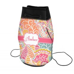 Abstract Foliage Neoprene Drawstring Backpack (Personalized)