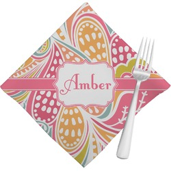 Abstract Foliage Napkins (Set of 4) (Personalized)