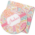 Abstract Foliage Rubber Backed Coaster (Personalized)