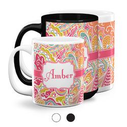 Abstract Foliage Coffee Mugs (Personalized)