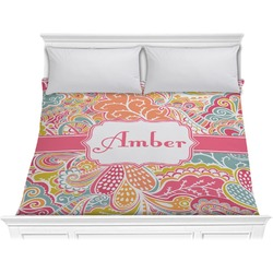 Abstract Foliage Comforter - King (Personalized)