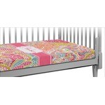 Abstract Foliage Crib Fitted Sheet (Personalized)