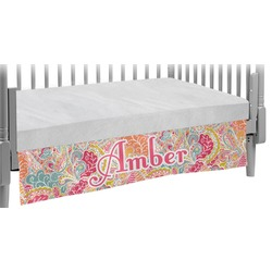 Abstract Foliage Crib Skirt (Personalized)