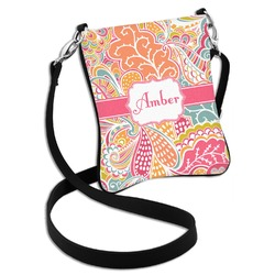 Abstract Foliage Cross Body Bag - 2 Sizes (Personalized)