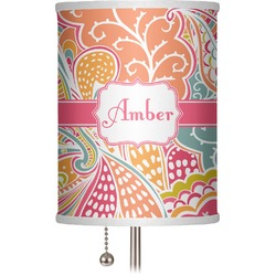 "Abstract Foliage 7"" Drum Lamp Shade (Personalized)"