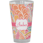 Abstract Foliage Drinking / Pint Glass (Personalized)
