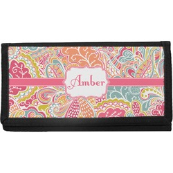 Abstract Foliage Canvas Checkbook Cover (Personalized)