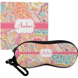 Abstract Foliage Eyeglass Case & Cloth (Personalized)