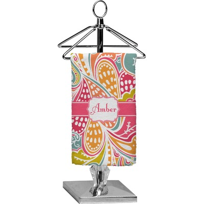 Abstract Foliage Finger Tip Towel - Full Print (Personalized)