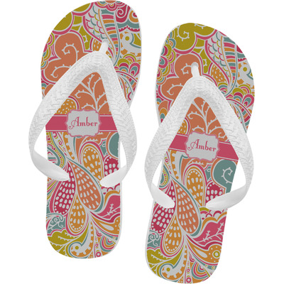 Abstract Foliage Flip Flops - Small (Personalized)