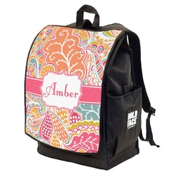 Abstract Foliage Backpack w/ Front Flap  (Personalized)