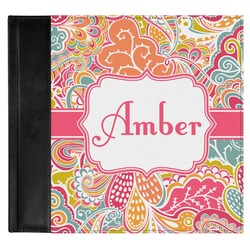 Abstract Foliage Genuine Leather Baby Memory Book (Personalized)