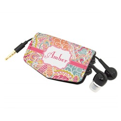 Abstract Foliage Genuine Leather Cord Wrap (Personalized)