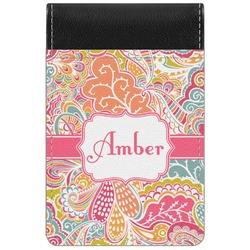 Abstract Foliage Genuine Leather Small Memo Pad (Personalized)