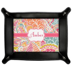 Abstract Foliage Genuine Leather Valet Tray (Personalized)