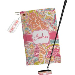 Abstract Foliage Golf Towel Gift Set (Personalized)