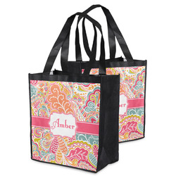 Abstract Foliage Grocery Bag (Personalized)