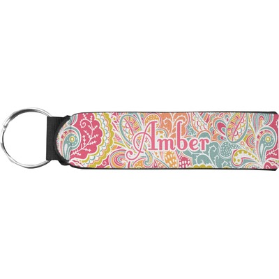 Abstract Foliage Neoprene Keychain Fob (Personalized)