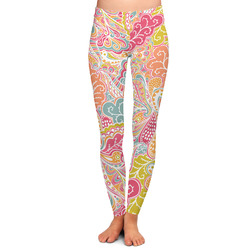 Abstract Foliage Ladies Leggings - Large (Personalized)