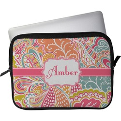 """Abstract Foliage Laptop Sleeve / Case - 12"""" (Personalized)"""