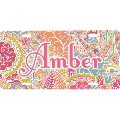 Abstract Foliage Front License Plate (Personalized)