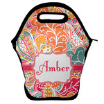 Abstract Foliage Lunch Bag w/ Name or Text
