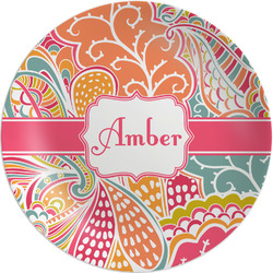 "Abstract Foliage Melamine Plate - 8"" (Personalized)"