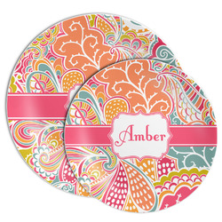 Abstract Foliage Melamine Plate (Personalized)