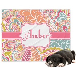 Abstract Foliage Minky Dog Blanket - Regular (Personalized)