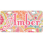 Abstract Foliage Mini / Bicycle License Plate (Personalized)