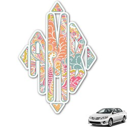 Abstract Foliage Monogram Car Decal (Personalized)