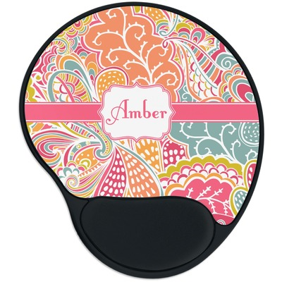 Abstract Foliage Mouse Pad with Wrist Support