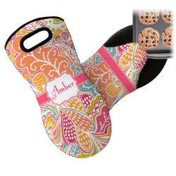 Abstract Foliage Neoprene Oven Mitt (Personalized)