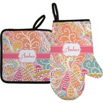Abstract Foliage Oven Mitt & Pot Holder (Personalized)