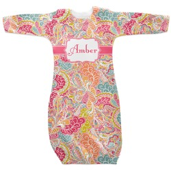 Abstract Foliage Newborn Gown (Personalized)
