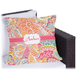 """Abstract Foliage Outdoor Pillow - 16"""" (Personalized)"""